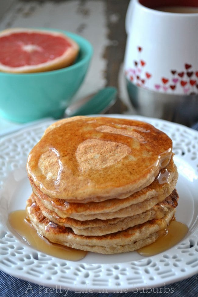 Ricotta Oat Bran Pancakes {A Pretty Life}