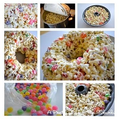 Popcorn Marshmallow Cake