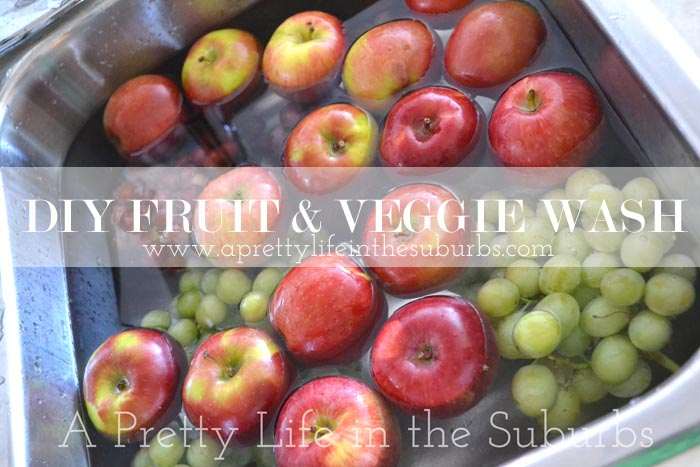DIY Fruit & Veggie Wash {A Pretty Life}