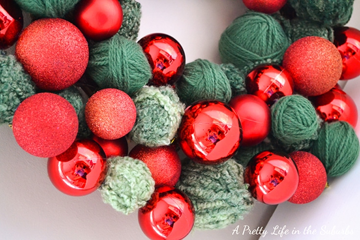 Starbucks Inspired DIY Christmas Ornament Wreath