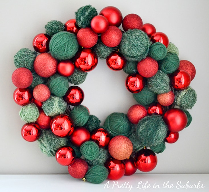 Red & Green Ornament Wreath