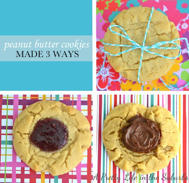 Peanut Butter Cookies Made 3 Ways