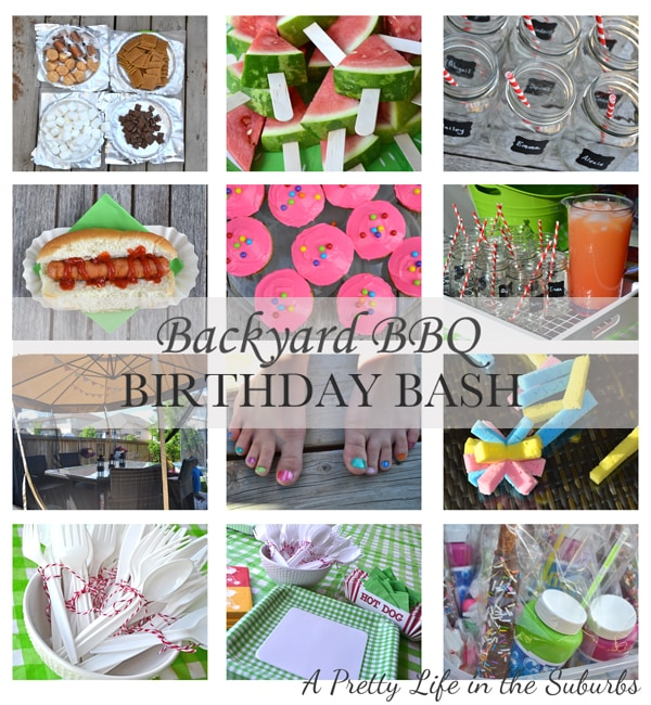 Backyard BBQ Birthday Bash A Pretty Life In The Suburbs - Backyard bbq party ideas
