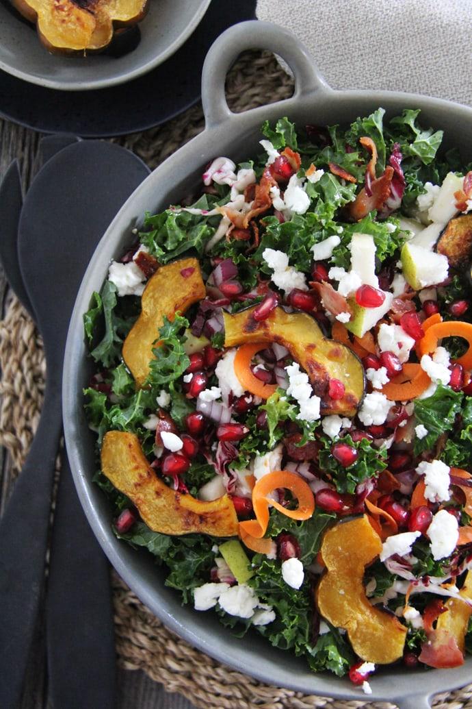 Kale and Roasted Squash Fall Salad
