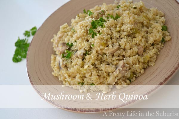 Mushroom and Herb Quinoa