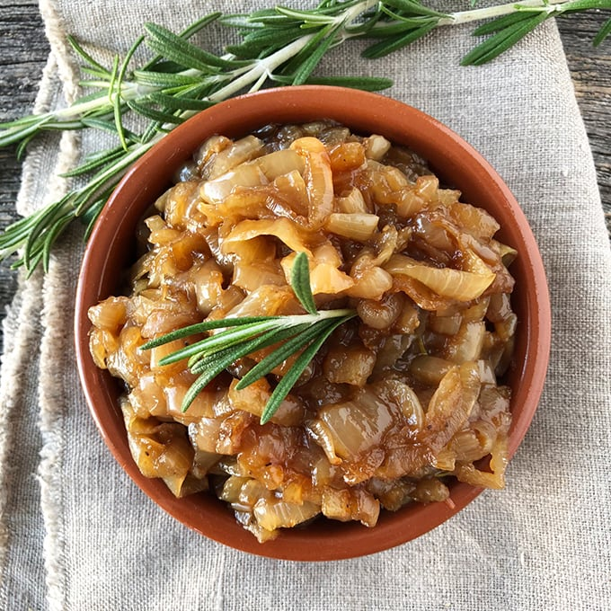 Roasted Garlic & Rosemary Onion Jam
