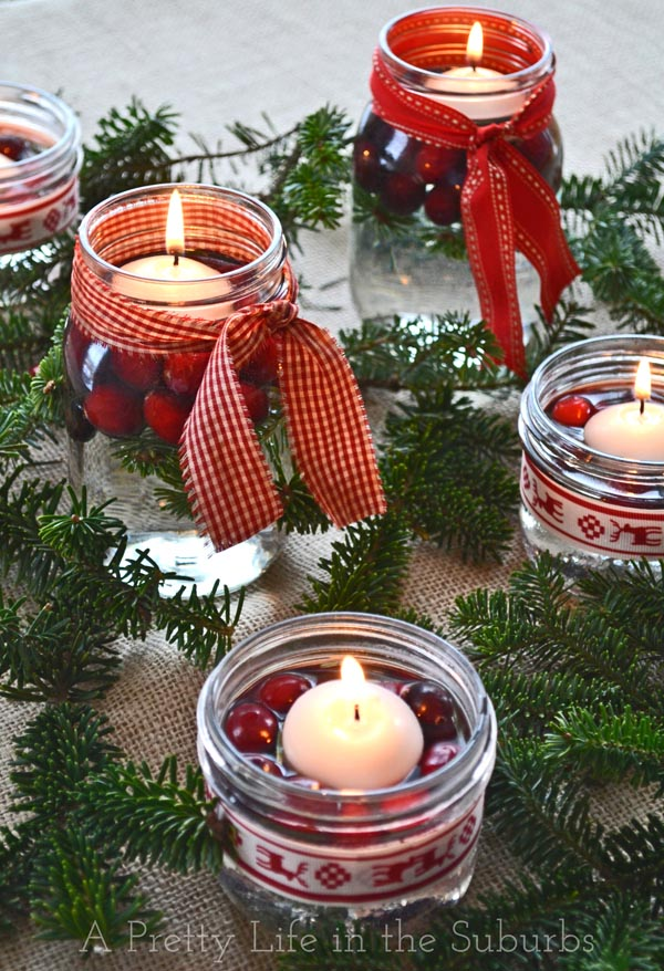 diy mason jar christmas centrepieces a pretty life