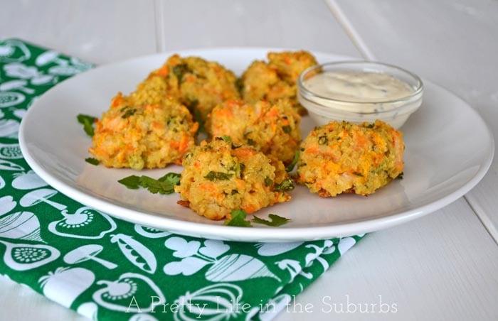Crispy Cheesy Quinoa Bites