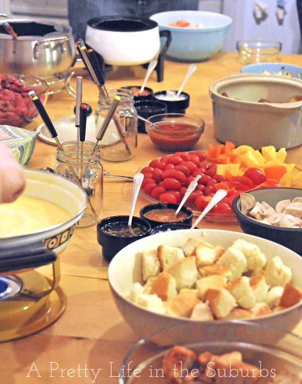 fondue dinner party ideas