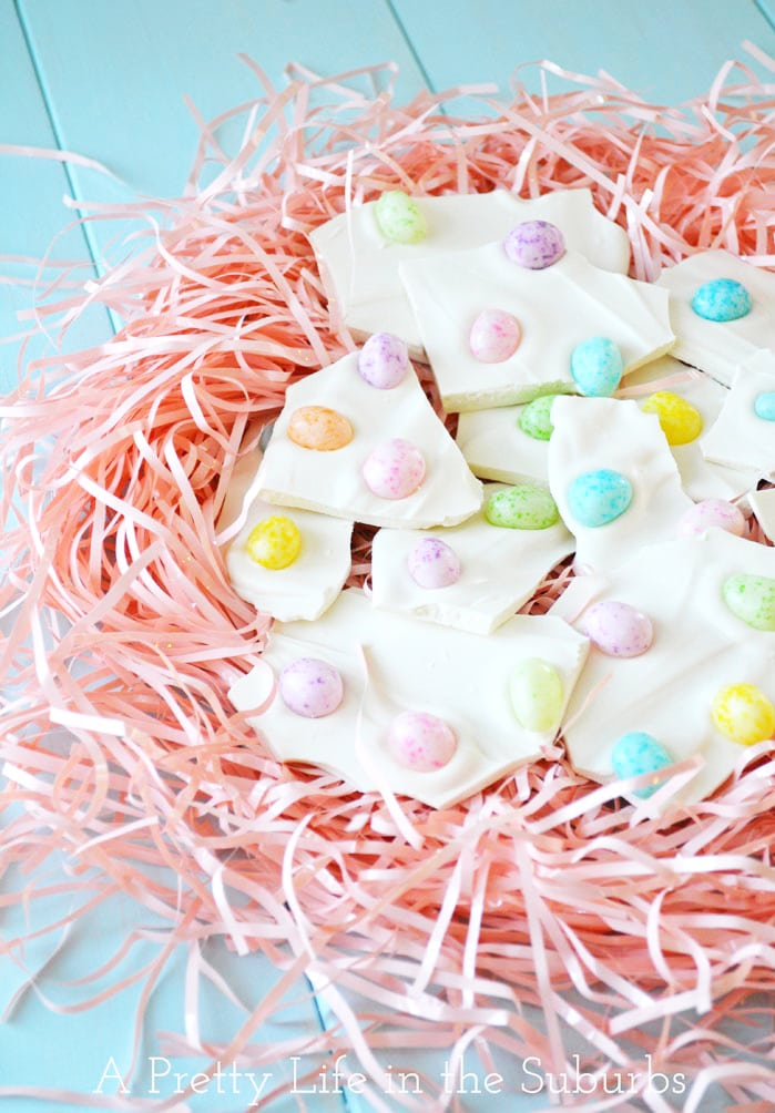 2 Ingredient Easter Egg Bark