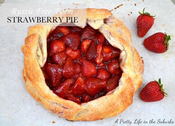 Strawberry Galette (Free Form Strawberry Pie)