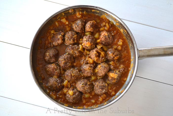 Sweet & Sour Meatballs with Pineapple