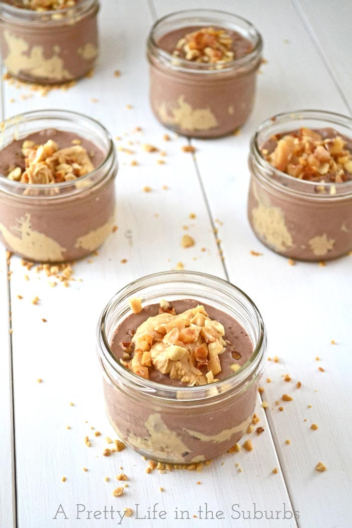 Peanut Butter Parfaits in Jars