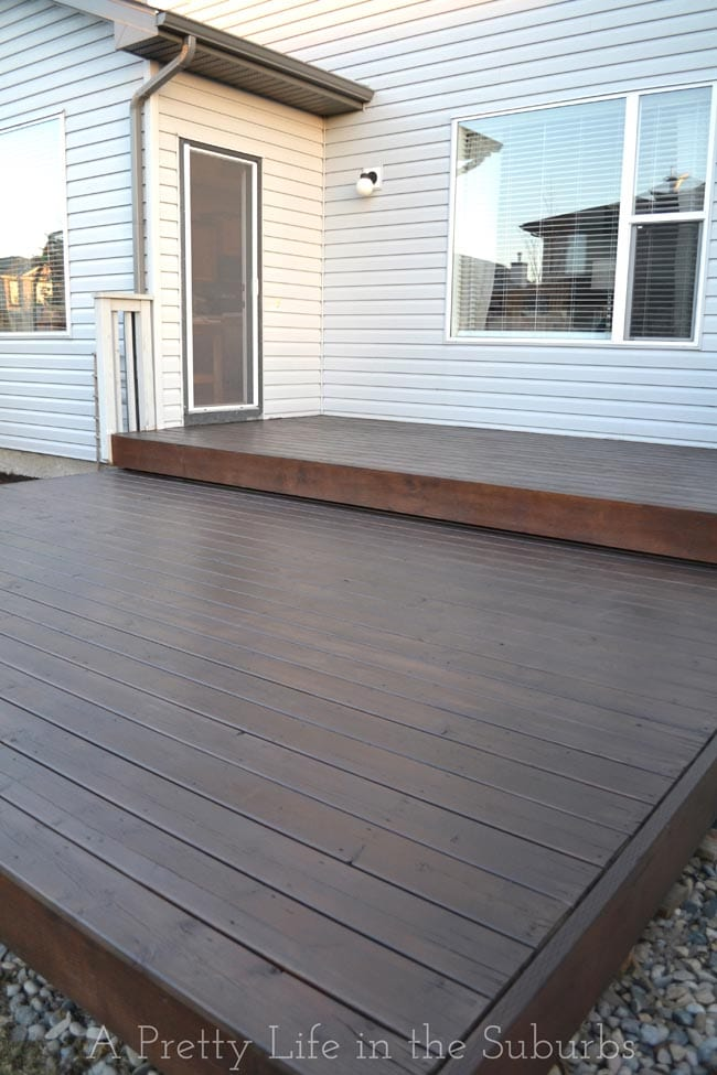 Painting a Platform Deck:  AFTER
