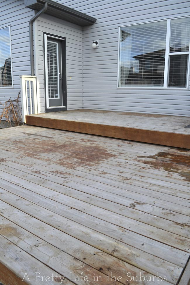 Painting a Platform Deck:  BEFORE