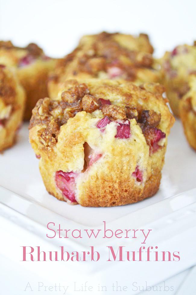 Strawberry Rhubarb Muffin Recipe
