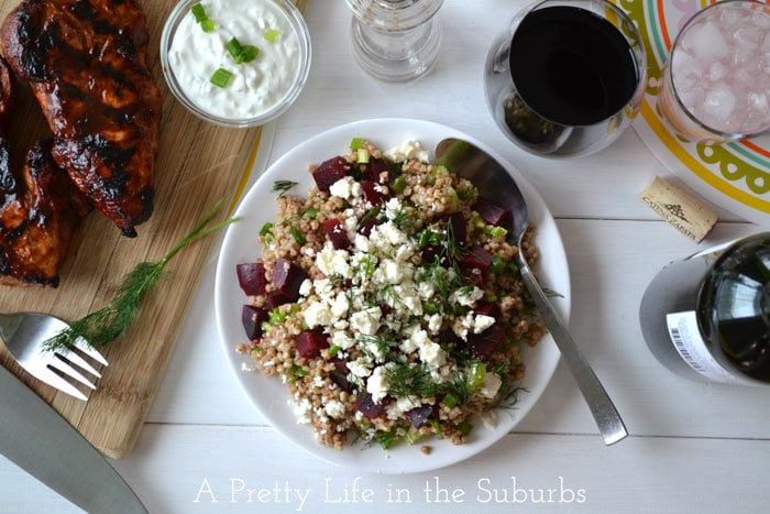 Kasha Beet and Dill Salad