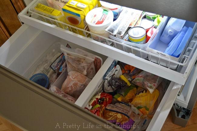 Freezer Organization:  Freezer Zones