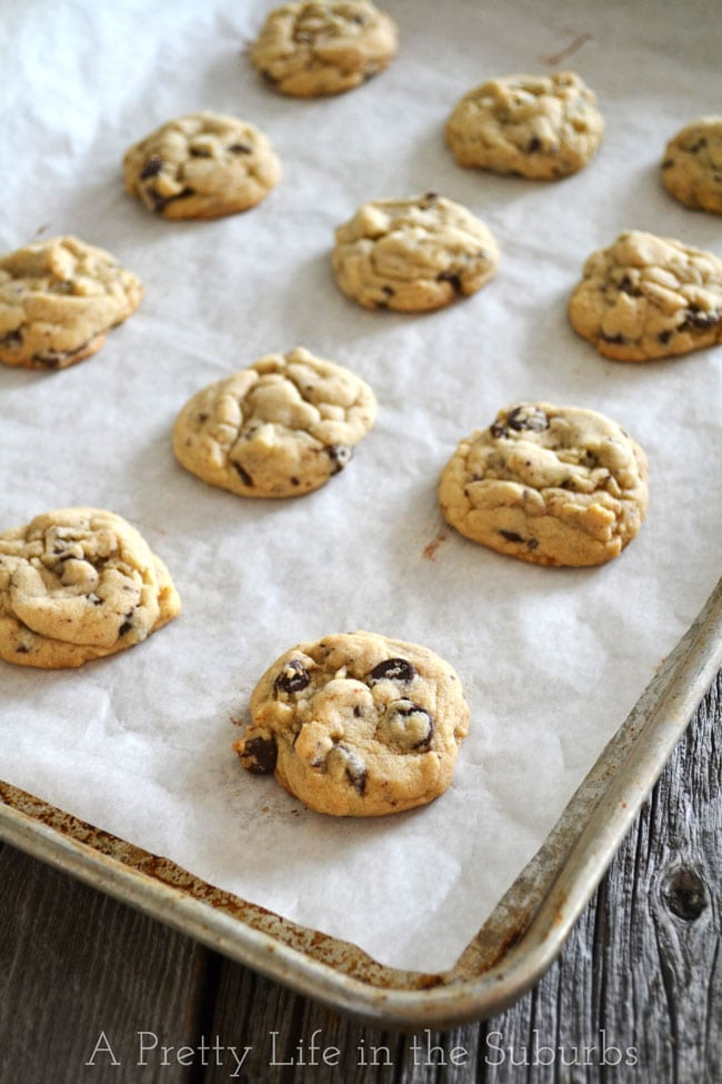 Chocolate Chip Cookies {A Pretty Life}
