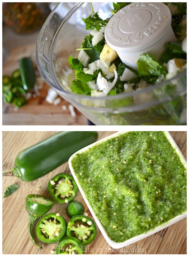 Fresh Salsa Verde {A Pretty Life}