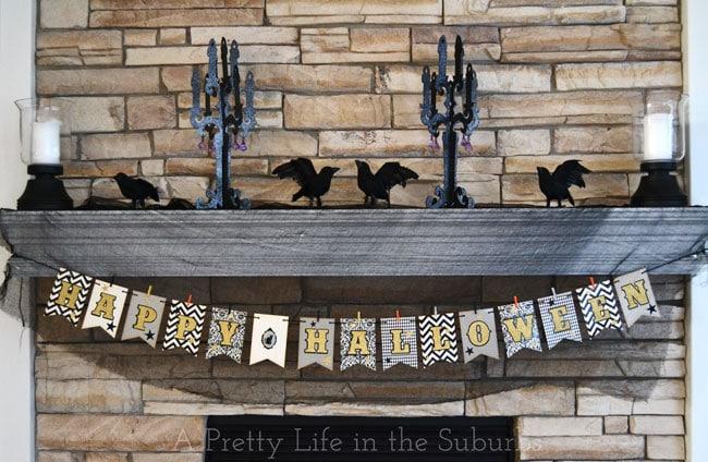 Halloween Banner & Mantel  {A Pretty Life}