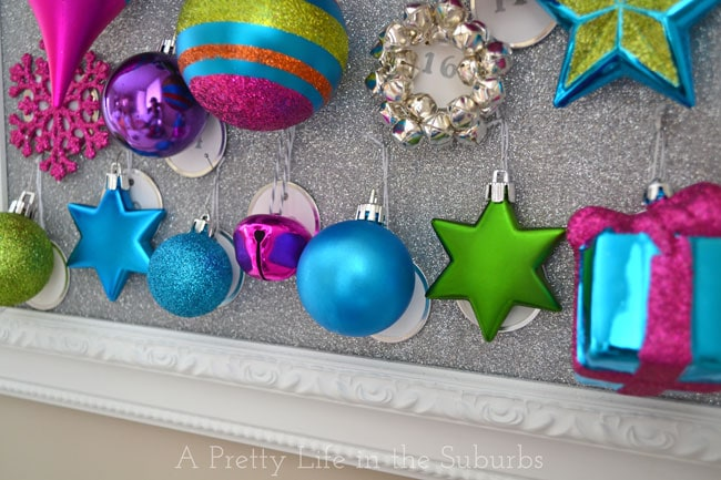 Ornament Advent Calendar {A Pretty Life}