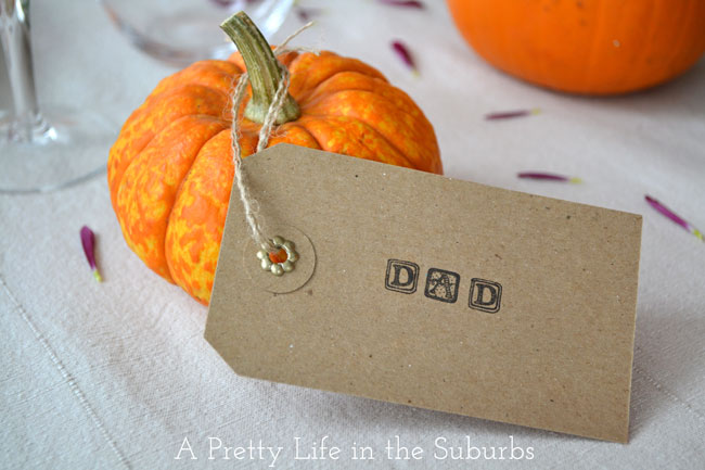 Rustic Place Card {A Pretty Life}