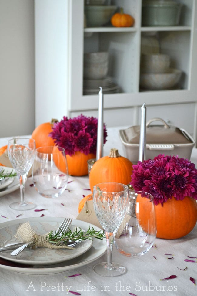 Simple ideas for a thanksgiving table setting a pretty Simple table setting for lunch