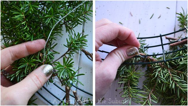 Fresh-Evergreen-Wreath-Tutorial-{A-Pretty-Life}