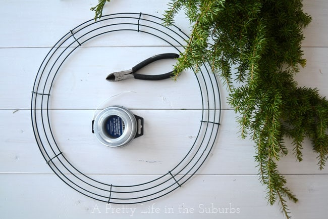 Fresh-Evergreen-Wreath-Tutorial-{A-Pretty-Life}2