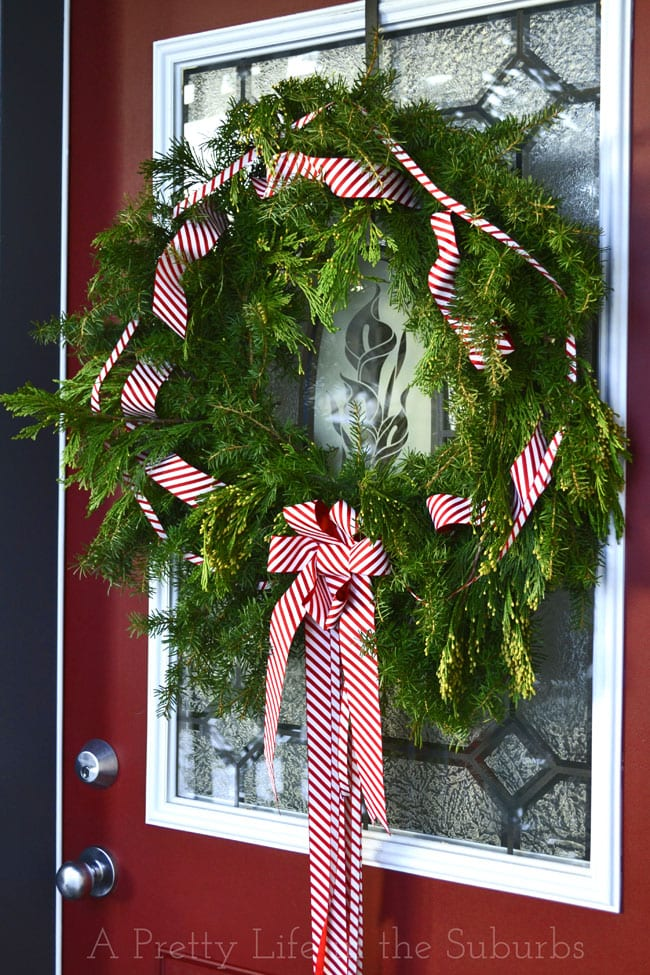Fresh Evergreen Wreath Tutorial {A Pretty Life}