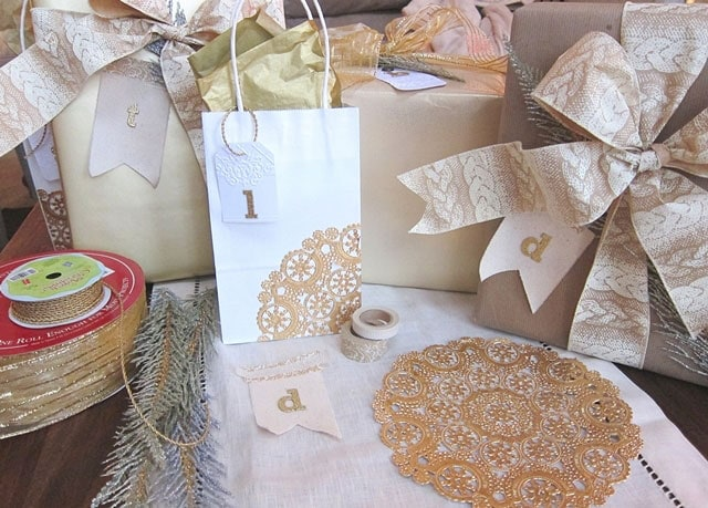 Gold-and-kraft-gift-wrap-supplies