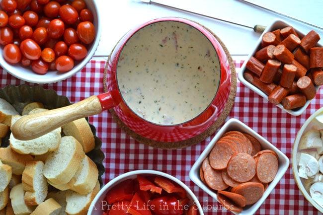 recipe: meatless pizza fondue [12]