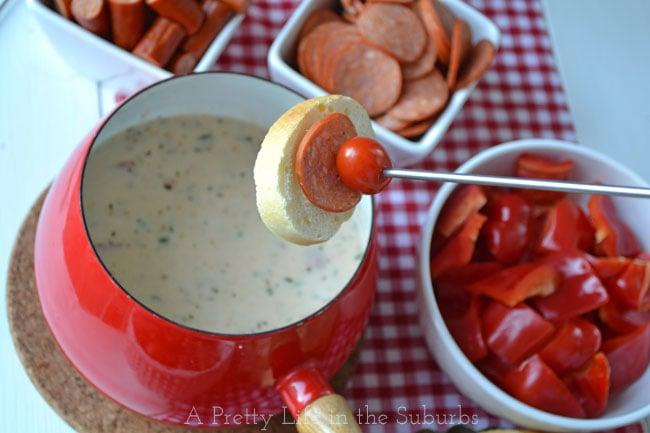 recipe: meatless pizza fondue [24]