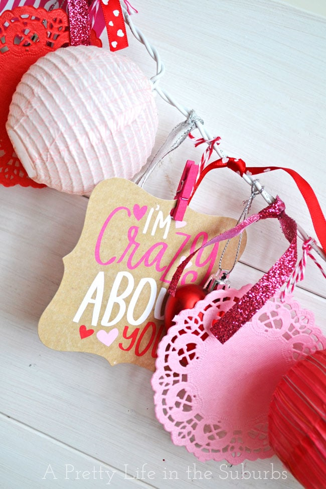 Easy Valentines Love Garland {A Pretty Life}
