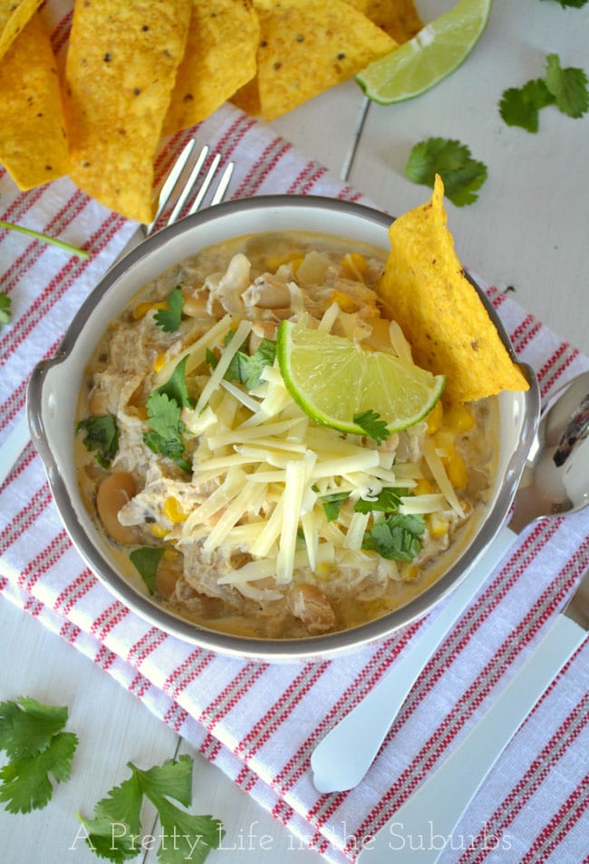 White Chicken Chili {A Pretty Life}