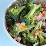Broccoli Salad with Mandarins, Red Onions and Bacon