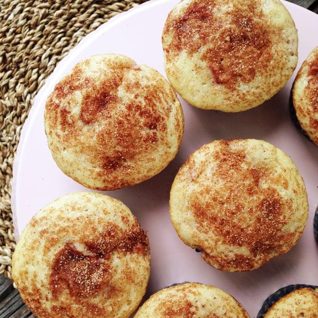 Cinnamon Swirl Rhubarb Muffins {A Pretty Life}