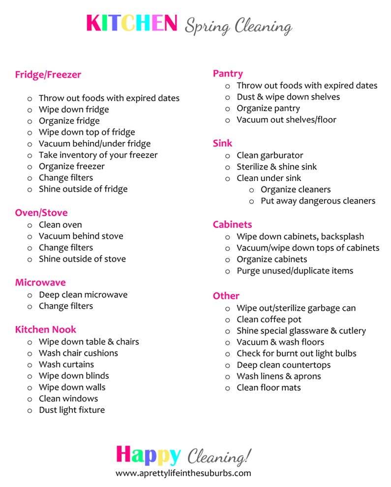 Spring Cleaning Tips amp Checklist