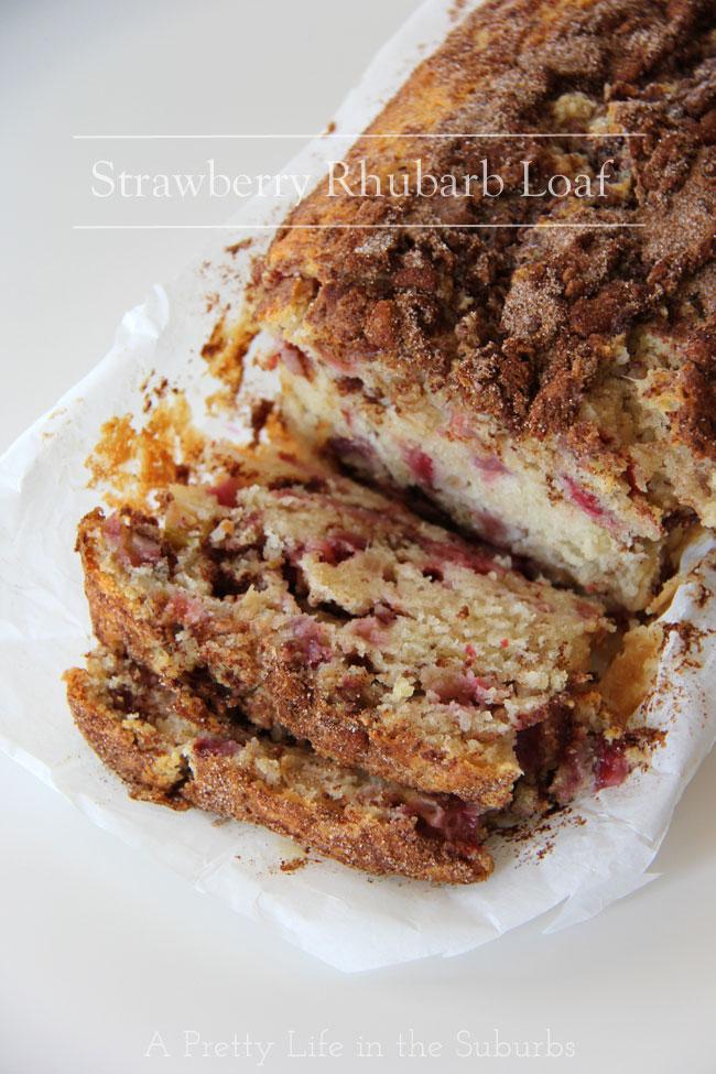 Recipe rhubarb loaf cake