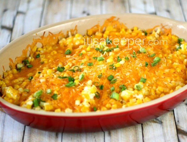 Super-Easy-Recipes-Cheddar-Corn-Casserole-on-Its-a-Keeper-847x1024