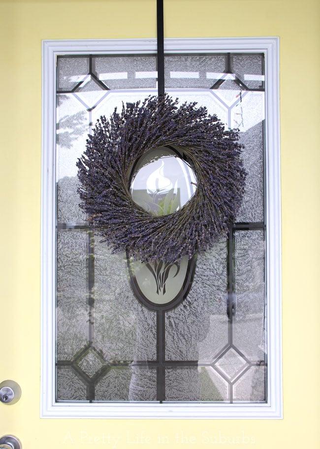 Lavender Wreath {A Pretty Life}