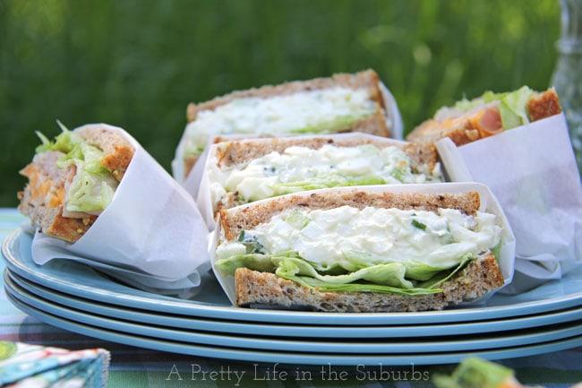 Easy Egg Salad Sandwiches {A Pretty Life}