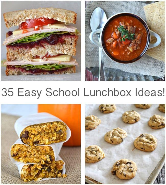 35 Easy School Lunchbox Ideas {A Pretty Life}