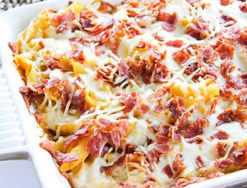 Cheesy Butternut Squash Pasta Bake-F