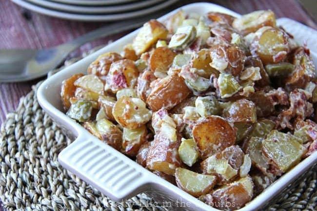 Warm Potato Salad {A Pretty Life}
