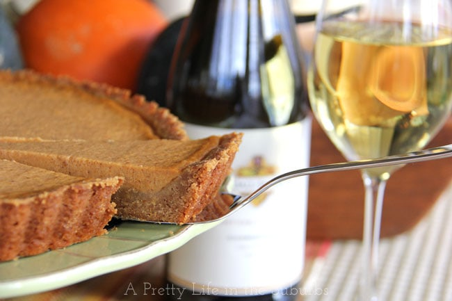 Pumpkin-Tart-with-Gingerbread-Cookie-Crust-3{A-Pretty-Life}