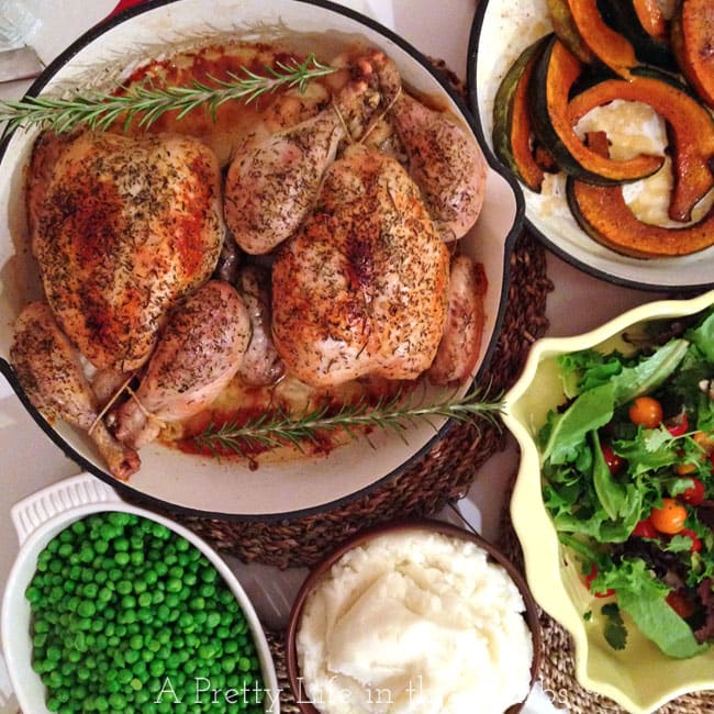 2 Roasted Chickens, 7 Meals {A Pretty Life}