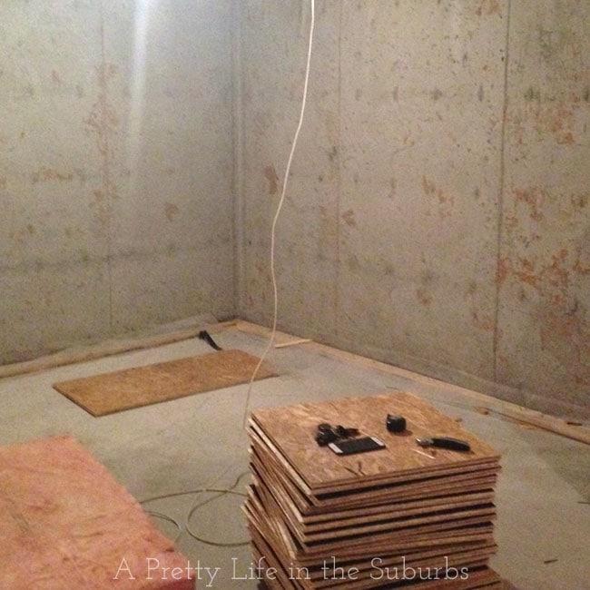 Basement Renovation Dricore Subfloor Installation: DRIcore-Subfloor-4{A-Pretty-Life}