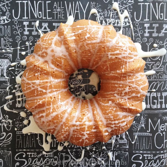 Eggnog Bundt Cake with Eggnog Sugar Glaze